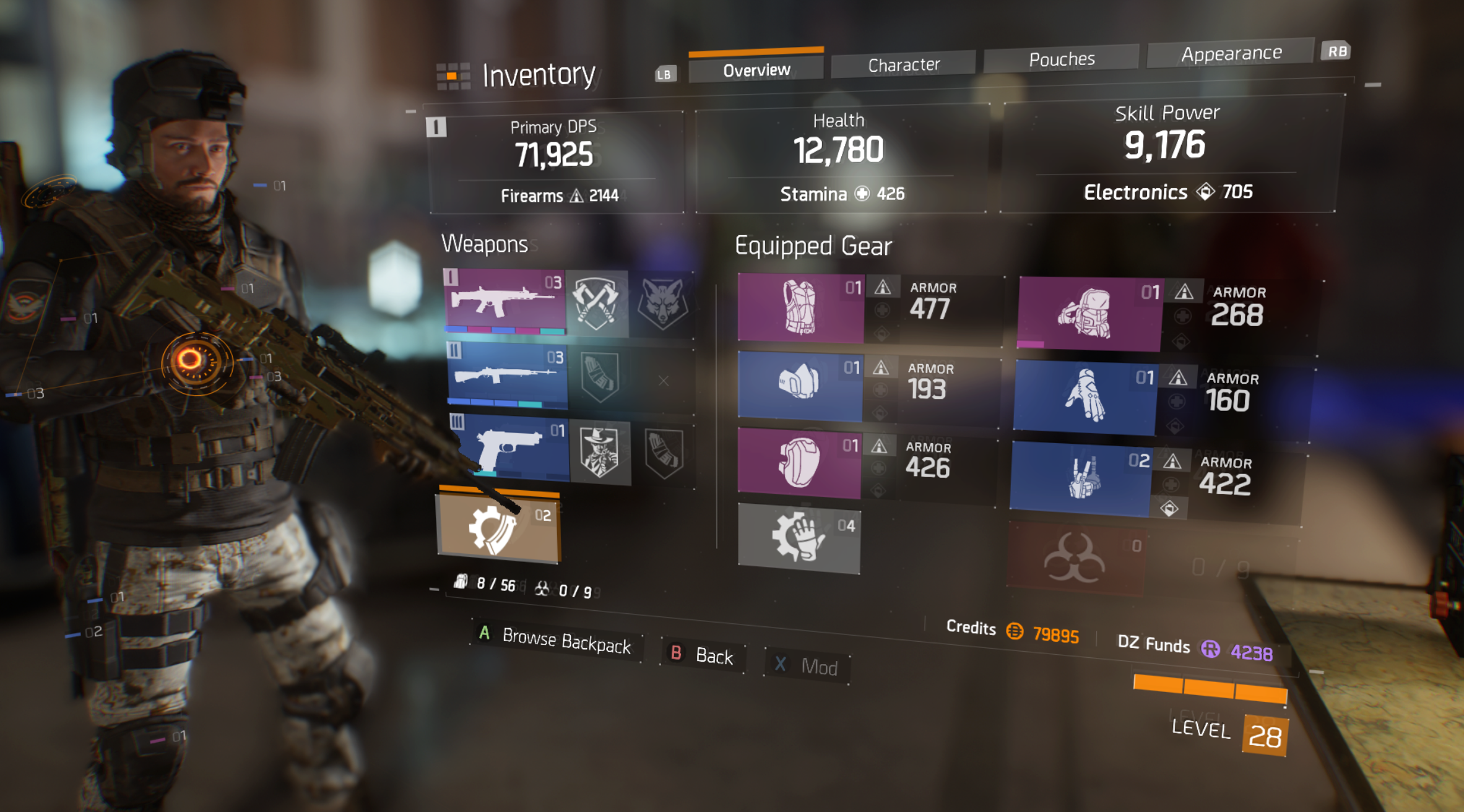 The Division charater inventory
