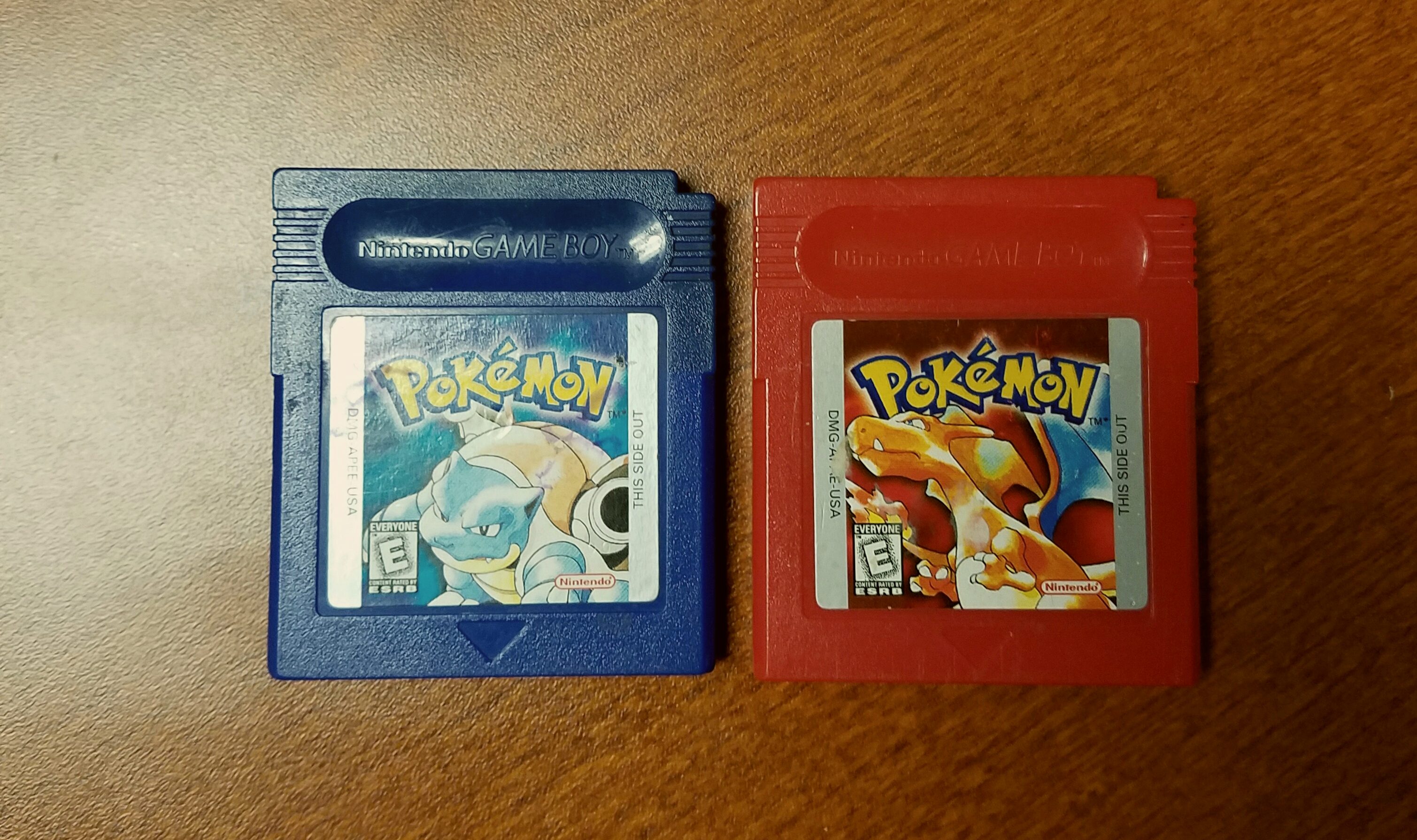 Pokemon Red Version Pokemon Blue Version Red and blue